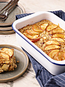 Oatmeal apple casserole