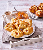Cheese pastries with apricots