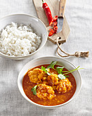 Cauliflower curry with red lentil
