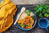 Veggie curry with brown rice