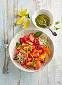 Fruit salad with chili and lemon