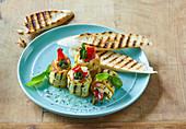 Grilled zucchini rolls