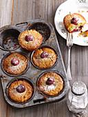 Fluffy cherry muffins