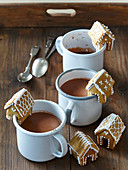 Small gingerbread cottages Gingerbread houses mug decoration