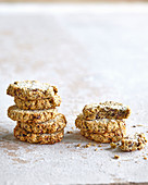 Seed cookies with nuts and coconut
