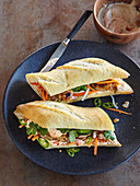 Banh mi (Vietnamese baguette with chicken)