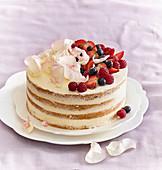 Wedding cake (gateau) with fruits