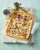 Onion Pie with Bacon
