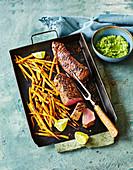 Pork tenderloin with fritted parsnip