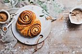 Franzbrötchen (cinnamon puff pastries)