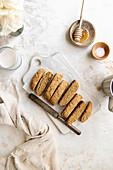 Tahini biscotti cookies