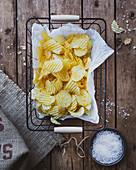 Potato crisps with sea salt