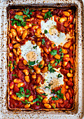 Oven Baked Beans and Eggs Traybake