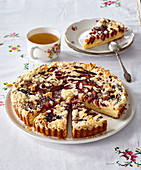Plum cake with amaretto
