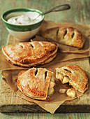 Chausson aux Pommes or Apple Turnovers with whipped cream