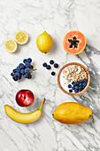 Detox muesli bowl with fruits