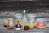 Various ointments made from horseradish root (natural medicine)