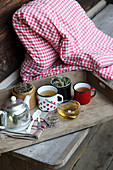 Various herbal teas (naturopathy)
