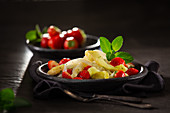 Asparagus salad with strawberries and mint vinaigrette