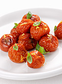 Confit tomatoes with basil