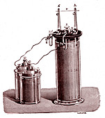Large storage battery, 19th century