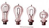 Edison's incandescent lamps