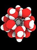 Methane hydrate, molecular model