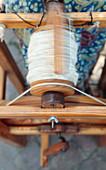 Merino wool being spun