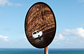 Mirror view of Chapman's Peak Drive, South Africa