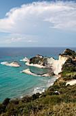 Sandstone cliffs, Corfu, Greece