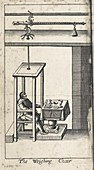 Weighing device, 17th century illustration