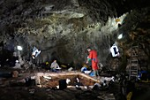 Excavations at Cueva Mayor fossil site, Spain