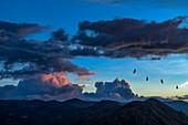 Monsoon clouds over Nilgiri mountains, India