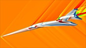 Supersonic aircraft shockwave research