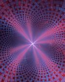 Distorted matrix conceptual artwork.