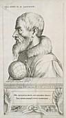Self-portrait of Augustin Hirschvogel, German artist