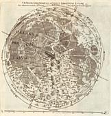 Riccioli's Moon map, 1651