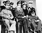 Allied leaders at the Tehran Conference, 1943