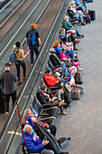 Passengers at an airport