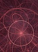 Circles and orbital paths abstract.