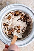 Vegan cookie dough ice cream