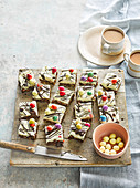 Easter rocky road cheesecake bars