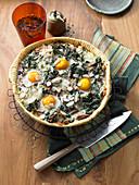 Spinach tart 'Florentine' with tuna
