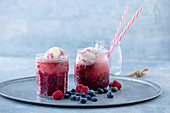 Summer forest berry float