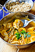 Thai red coley curry