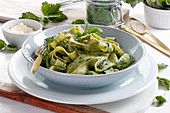 Pappardelle with nettle pesto