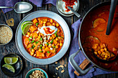 Pumpkin and chickpeas curry
