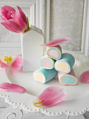 Different coloured marshmallows