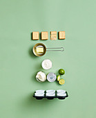 Ingredients for Key Lime Pie muffins