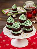 Tannenbaum-Cupcakes